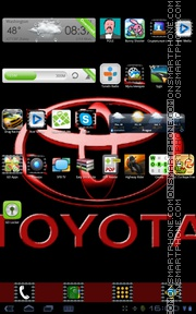 Toyota 03 tema screenshot
