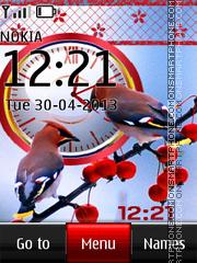 Bright bird dual clock theme screenshot
