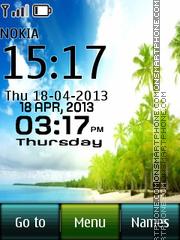 Paradise Beach theme screenshot