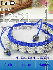 Shamballa bracelets theme screenshot