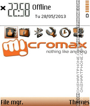Micromax theme screenshot