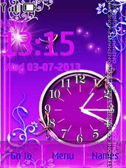 Purple Theme theme screenshot