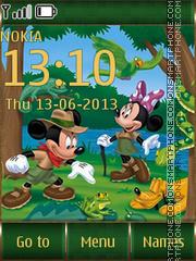 Summer Mickey Mouse theme screenshot