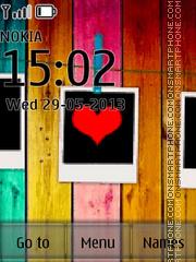 Love You Heart Photo theme screenshot