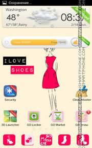 Hotpink Shoes es el tema de pantalla