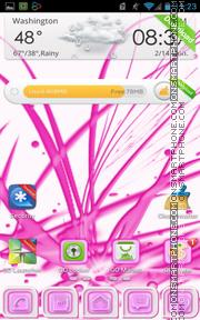 Pink Chill es el tema de pantalla