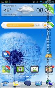 Pebbles Blue Galaxy S3 es el tema de pantalla