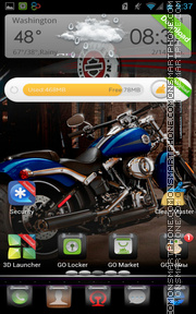 In Black Harley tema screenshot