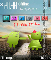 Android Love theme screenshot