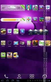 Simple Purple es el tema de pantalla