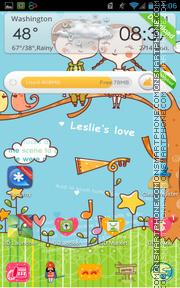 Leslies Love es el tema de pantalla