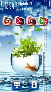 Goldfish Blue HD 01 theme screenshot