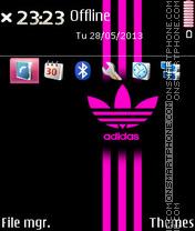 Adidas Pink Stripes es el tema de pantalla