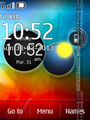 Vivid Razr theme screenshot