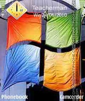Windows Flag es el tema de pantalla