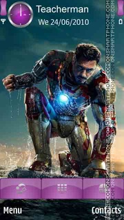 Iron Man 3 theme screenshot