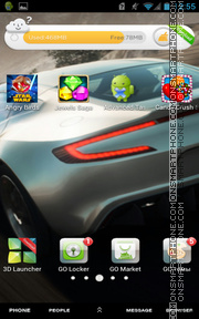 Aston Martin One tema screenshot