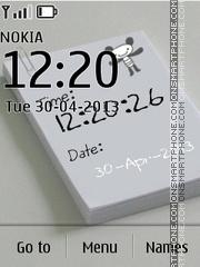 Note clock & date theme screenshot