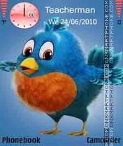 Twitter-Bird es el tema de pantalla
