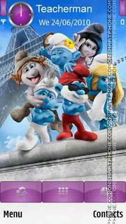 Capture d'écran Smurf thème