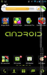 Cool Black Android theme screenshot