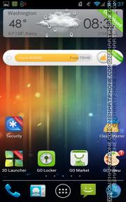 ICS Android es el tema de pantalla