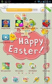 Happy Easter 11 es el tema de pantalla