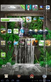 Theme 3D Waterfall es el tema de pantalla