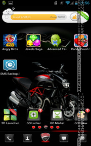 Ducati Diavel Carbon 01 tema screenshot
