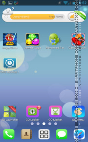 Capture d'écran iOS 7 iPhone thème