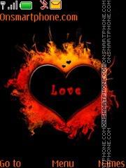Burning Heart 01 theme screenshot