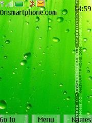 Fresh Green Drops theme screenshot
