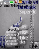 Facebook like es el tema de pantalla