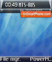 Aqua Blue Leopard theme screenshot