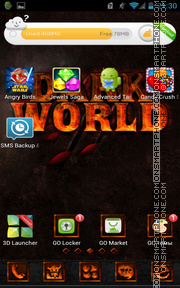 Darkworld tema screenshot