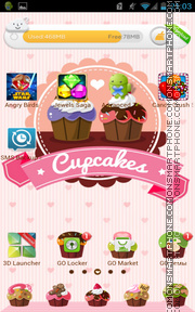 Cupcakes 01 es el tema de pantalla
