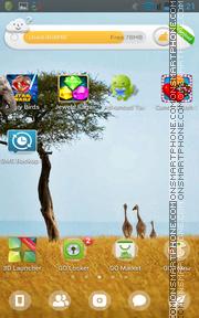 Giraffes in Kenya es el tema de pantalla