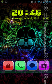 Retro Skull theme screenshot