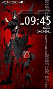 Itachi Uchiha 02 theme screenshot
