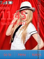 Avril Lavigne 03 theme screenshot