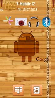 Android Wooden tema screenshot