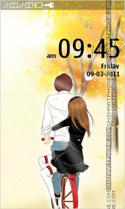 Anime Couple 01 theme screenshot