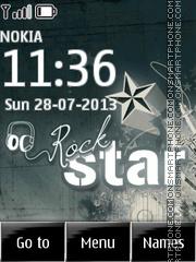 Animated Rock Star theme screenshot