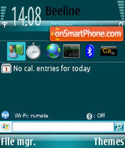 WM 6 Edit theme screenshot