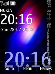 Colourite Clock theme screenshot