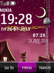 Ramadan Clock theme screenshot