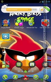 Angry Birds Space 01 tema screenshot