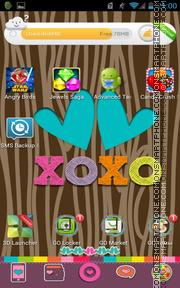 Color Me XOXO es el tema de pantalla
