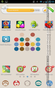 Capture d'écran Color Dot 01 thème