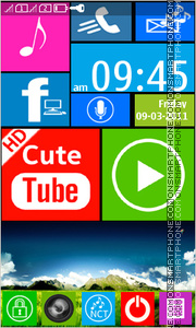 Windows Phone 8 for Asha tema screenshot